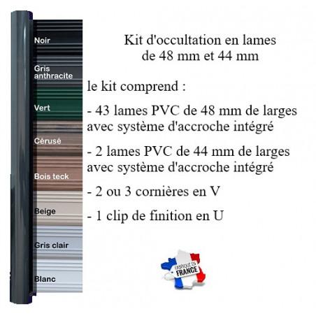 kit d'occultation lames PVC 48/44 mm