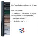 kit d'occultation lames PVC 48 mm