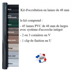 kit lames d'occultation PVC 48 mm