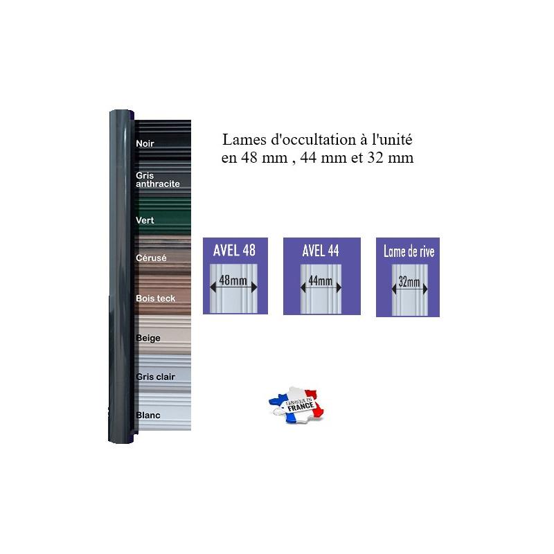 lames d'occultation PVC à l'unité