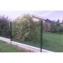 kit de clôture en panneaux rigide et plaques de soubassements